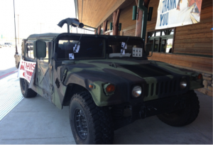 Humvee at Cabelas